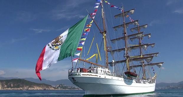 Con buque Cuauhtémoc, promocionan a México en Expo 2020 Dubái