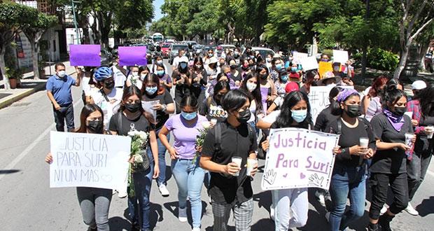 En marcha, exigen #JusticiaParaSuri, estudiante asesinada en Tehuacán