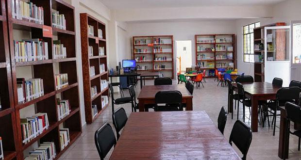Inauguran biblioteca en comunidad poblana; cuenta con 3 mil libros