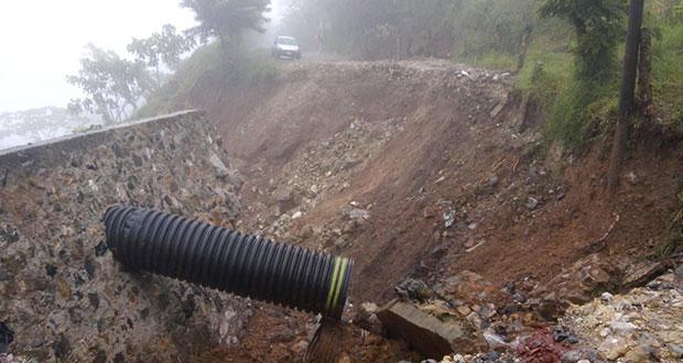 Por lluvias, Tepatlán queda incomunicado; exigen a gobiernos atender caminos