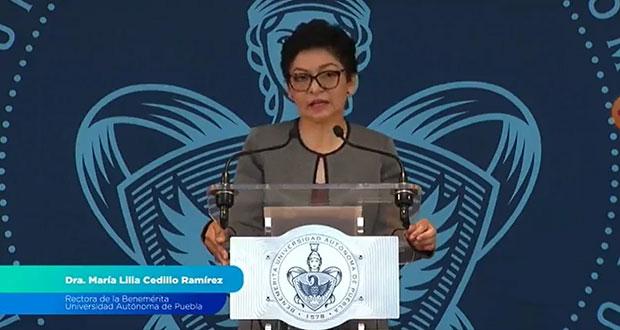 Sin derroches e intermediarios en conflictos, Lilia Cedillo dirigirá la BUAP