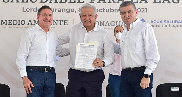 Tras consenso, proyecto de agua en La Laguna operará en 2023: AMLO