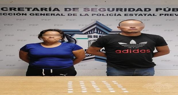 SSP detiene a dos presuntos narcomenudistas en Amalucan